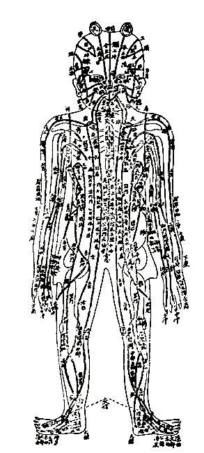 """2500 Jahre alte Tafel mit allen """"Meridianen"""" und Akkupunkturtafeln"""